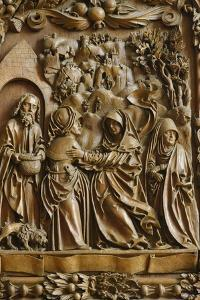 Detail of the Visitation of the Blessed Virgin Mary on the carved altar, Mauer bei Melk church by Godong