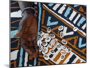 Fortune Telling with Cowrie Shells, Saly, Thies, Senegal, West Africa, Africa by Godong