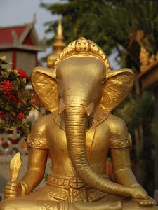 Ganesh Statue in Wat Deydos, Kompong Cham, Cambodia, Indochina, Southeast Asia by Godong