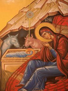 Greek Orthodox Icon Depicting Christ's Birth, Thessaloniki, Macedonia, Greece, Europe by Godong