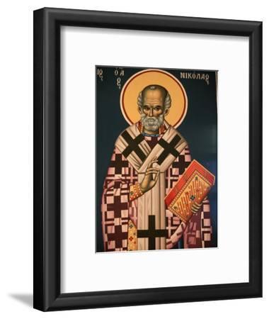 Greek Orthodox Icon Depicting St. Nicholas, Thessaloniki, Macedonia, Greece, Europe