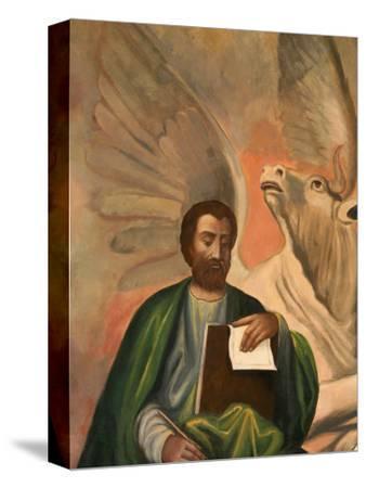 Icon of St. Luke at Aghiou Pavlou Monastery, UNESCO World Heritage Site, Mount Athos, Greece