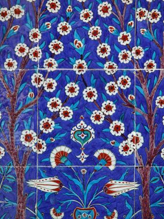 Iznik Tiles in Topkapi Palace, Istanbul, Turkey, Europe by Godong