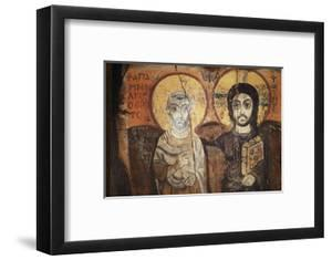 Jesus and Menas in a 6th century icon from Bawit in Middle Egypt, Saint-Pierre-le-Jeune Church by Godong