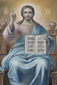 Jesus, Russian Orthodox Church, St. Petersburg, Russia, Europe by Godong