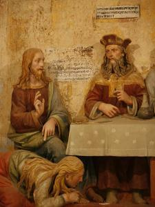 Jesus, Simon the Pharisee and the Sinner, San Vivaldo, Tuscany, Italy, Europe by Godong