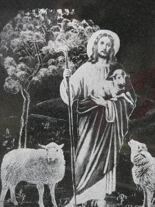 Jesus the Good Shepherd, Bossey, Haute Savoie, France, Europe by Godong