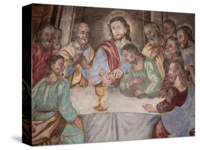 Last Supper, Our Lady of Assumption Church, Cordon, Haute-Savoie, France, Europe