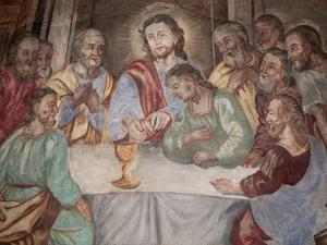 Last Supper, Our Lady of Assumption Church, Cordon, Haute-Savoie, France, Europe by Godong