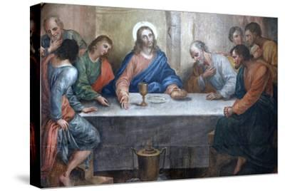 Last Supper Painting in Our Lady of Bonfim Church, Salvador, Bahia, Brazil, South America
