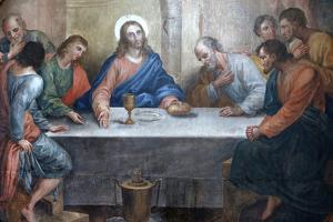 Last Supper Painting in Our Lady of Bonfim Church, Salvador, Bahia, Brazil, South America by Godong