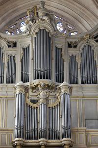 Main Organ, St. Germain l'Auxerrois Church, Paris, France, Europe by Godong