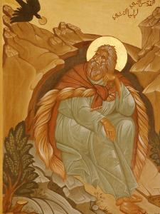 Melkite Icon of Elijah, Nazareth, Galilee, Israel, Middle East by Godong
