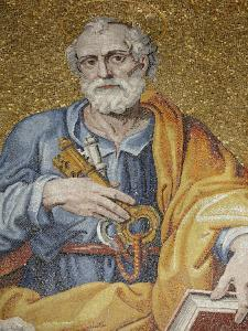 Mosaic Depicting St. Peter in St. Peter's Basilica, Vatican, Rome, Lazio, Italy, Europe by Godong