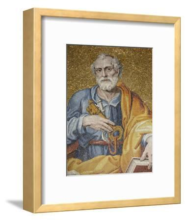 Mosaic Depicting St. Peter in St. Peter's Basilica, Vatican, Rome, Lazio, Italy, Europe