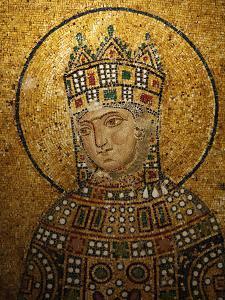 Mosaic of Empress Zoe, Hagia Sophia, Istanbul, Turkey, Europe by Godong
