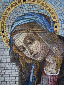 Mosaic of the Virgin Mary, Milano Monumental Cemetery, Milan, Lombardy, Italy, Europe by Godong