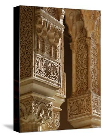 Nasrid Palaces Columns, Alhambra, UNESCO World Heritage Site, Granada, Andalucia, Spain, Europe