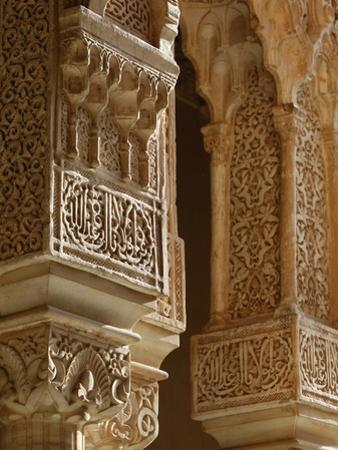 Nasrid Palaces Columns, Alhambra, UNESCO World Heritage Site, Granada, Andalucia, Spain, Europe by Godong