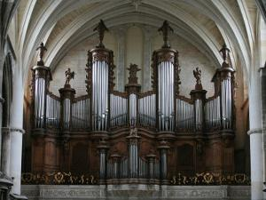 Organ in St. Andrew's Cathedral, Bordeaux, Gironde, Aquitaine, France, Europe by Godong