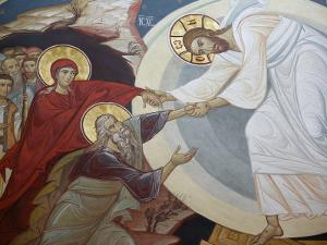 Resurrection. Jesus, Adam and Eve, Vienna, Austria, Europe by Godong