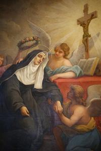 Rita of Cascia, Patron Saint of the Impossible, Abused Wives and Widows by Godong