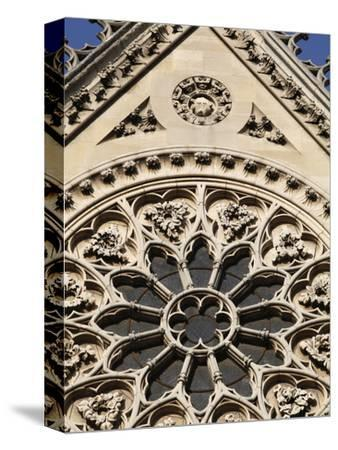 Rose Window on South Facade, Notre Dame Cathedral, Paris, France, Europe