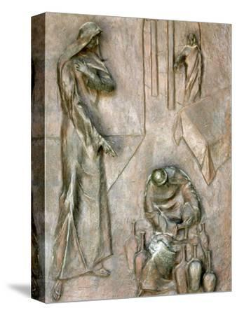 Sculpture on Door Depicting the Miracle of the Wedding at Cana, Annunciation Basilica