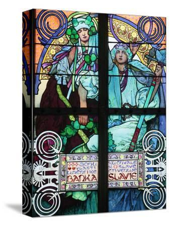 St Vitus's Cathedral, Stained Glass of St Cyril and Methodius, Alfons Mucha, Prague, Czech Republic