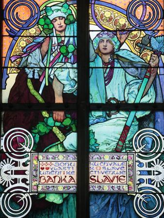 St Vitus's Cathedral, Stained Glass of St Cyril and Methodius, Alfons Mucha, Prague, Czech Republic by Godong