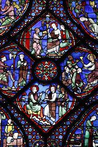 Stained glass, Notre-Dame de Chartres Cathedral, Chartres, Eure-et-Loir, France by Godong