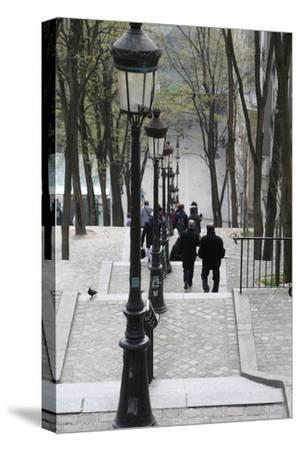 Staircase in Montmartre, Paris, France, Europe