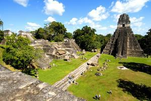 Temple I (Temple of the Giant Jaguar) at Tikal, Guatemala, Central America by Godong