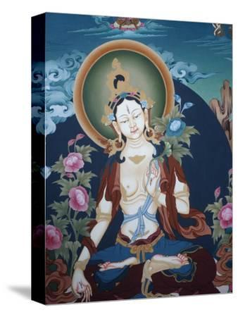 Thangka Depicting White Tara Goddess, Buddhist Symbol of Long Life, Bhaktapur, Nepal, Asia
