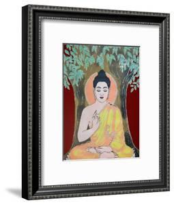 Thangka Painting of the Buddha Giving a Blessing, Kathmandu, Nepal, Asia by Godong