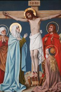 The Crucifixion of Jesus, Holy Blood Basilica, Bruges, West Flanders, Belgium, Europe by Godong