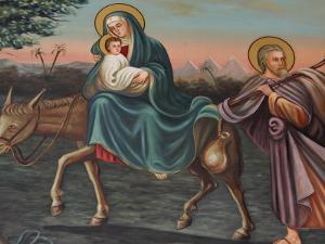 The Flight into Egypt, St. Anthony Coptic Church, Jerusalem, Israel, Middle East by Godong