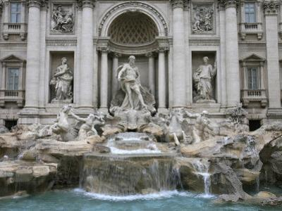 Trevi Fountain by Nicola Salvi Dating from the 17th Century, Rome, Lazio, Italy, Europe by Godong