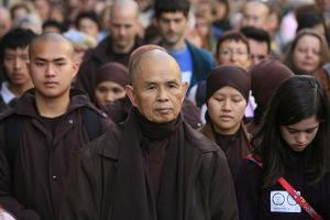 Walking meditation led by Thich Nhat Hanh, France by Godong