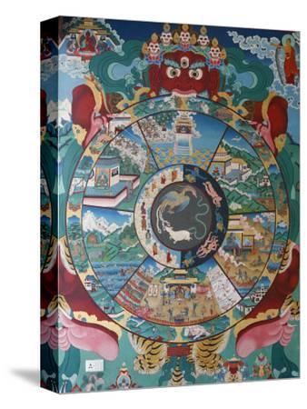 Wheel of Life, Kopan Monastery, Bhaktapur, Nepal, Asia