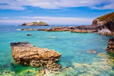 Godrevy Lighthouse, Cornwall, England, United Kingdom, Europe-Kav Dadfar-Photographic Print