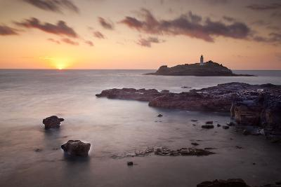 Godrevy Lighthouse Sunset--Photographic Print