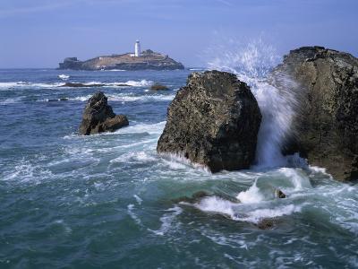 Godrevy Point Lighthouse, Cornwall, England, United Kingdom, Europe-Rainford Roy-Photographic Print