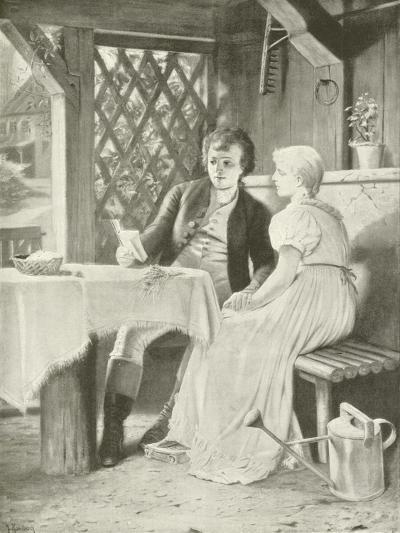 Goethe and Frederike-Hermann Kaulbach-Giclee Print