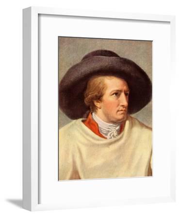 GOETHE Johann Wolfgang-Johann Heinrich Tischbein-Framed Giclee Print