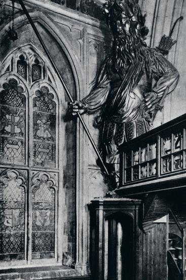 'Gog (Gogmagog), One of the two City giants burnt in the London Guildhall fire, 1940'-Unknown-Photographic Print