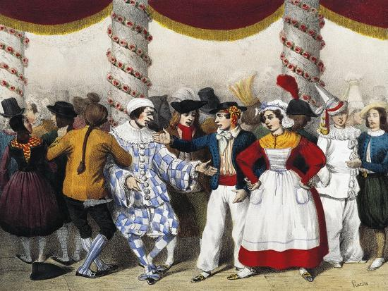 Goguette Characters, Engraved by Clement Pruche, France, 19th Century--Giclee Print