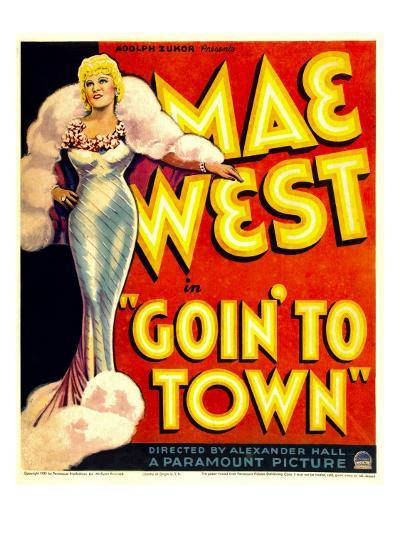 Goin' to Town, Mae West on Window Card, 1935--Photo