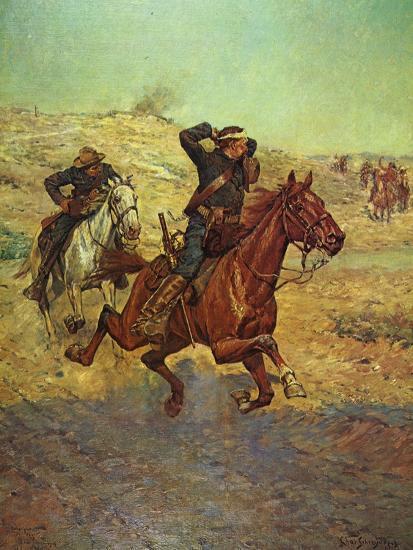 Going for Reinforcements-Charles Shreyvogel-Art Print