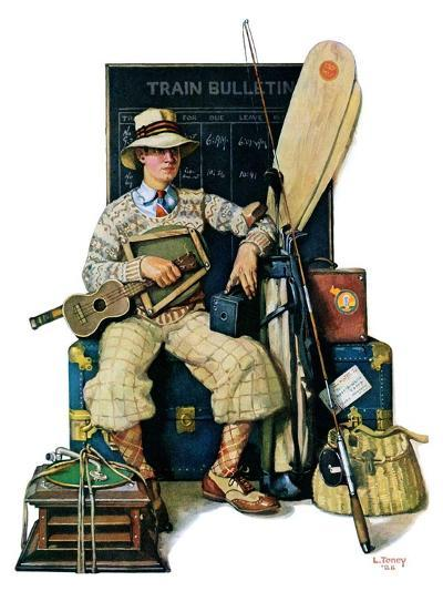 """""""Going Home from Camp,""""August 11, 1928-Lawrence Toney-Giclee Print"""